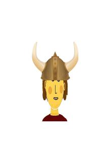 Me wearing Viking Helmet 2
