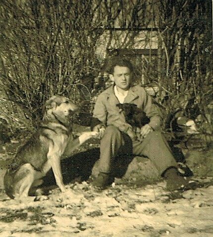 German POW with his dog